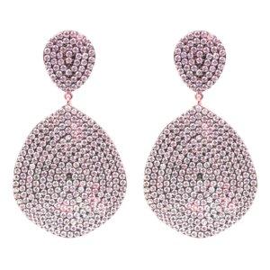 LATELITA - Monte Carlo Earring Rosegold Light Pink
