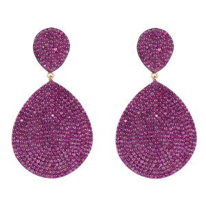LATELITA - Monte Carlo Earring Ruby Cz Rosegold