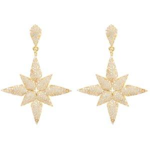 LATELITA - Star Flower Drop Earrings Gold