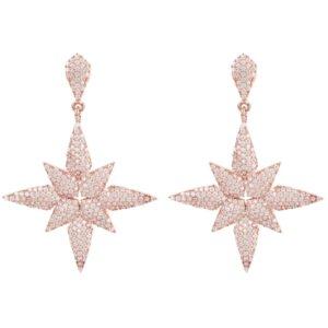 LATELITA - Star Flower Drop Earrings Rosegold