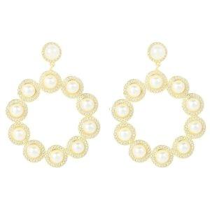 LATELITA - The Gatsby Pearl Earrings Gold