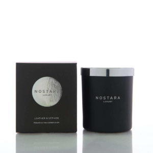 Leather & Vetiver Scented Candle