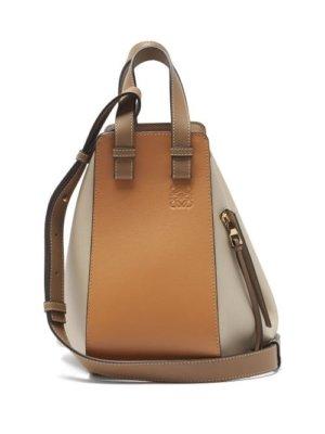 Loewe - Hammock Small Leather Tote Bag - Womens - Beige Multi