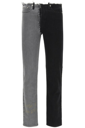 MAISON MARGIELA 0 30 Black, Grey Cotton, Denim