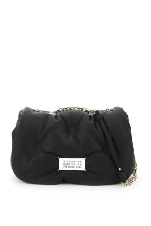 MAISON MARGIELA GLAM SLAM BAG WITH CHAIN STRAP OS Black Leather