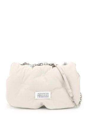 MAISON MARGIELA GLAM SLAM BAG WITH CHAIN STRAP OS White, Beige Leather