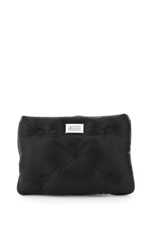 MAISON MARGIELA GLAM SLAM LEATHER CLUTCH OS Black Leather