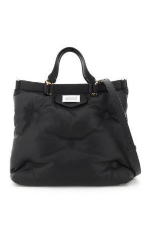 MAISON MARGIELA GLAM SLAM TOP HANDLE BAG OS Black Leather