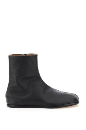 MAISON MARGIELA TABI FLAT BOOTS 41 Black Leather