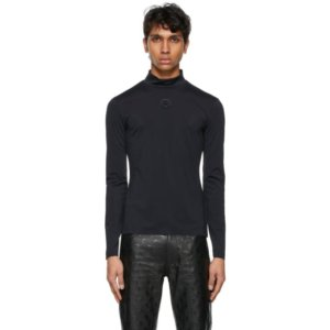 Marine Serre Black Seasonal Second Skin Moon Turtleneck