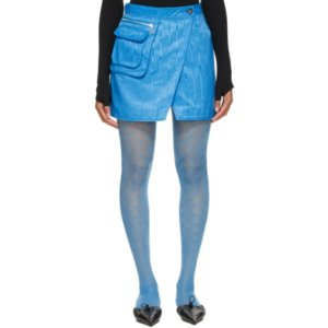 Marine Serre Blue Cycling Survival Miniskirt