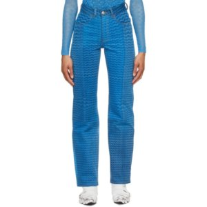 Marine Serre Blue Moonfish Skin Jeans