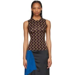 Marine Serre Brown Moon Tank Top