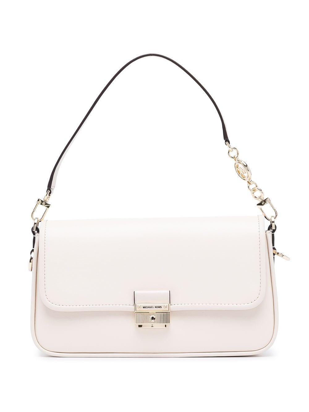 white leather mini shoulder bag