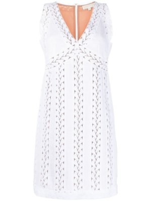 Michael Michael Kors broderie anglaise dress - White