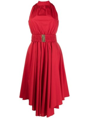 Michael Michael Kors halterneck midi dress - Red