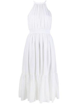 Michael Michael Kors halterneck midi dress - White