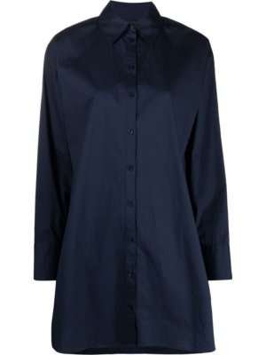 Michael Michael Kors long-sleeved shirt dress - Blue