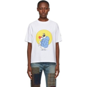 Moncler Genius 1 Moncler JW Anderson Navy Looney Tunes Edition Sylvester T-Shirt