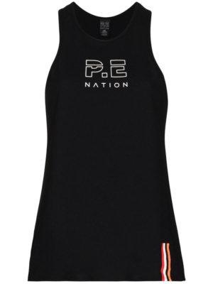 P.E Nation Endurance logo-print tank top - Black
