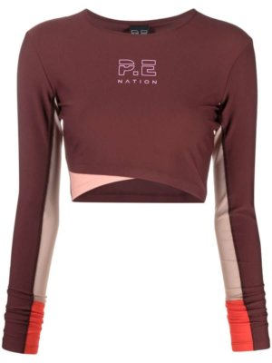 P.E Nation Point Forward performance top - Red