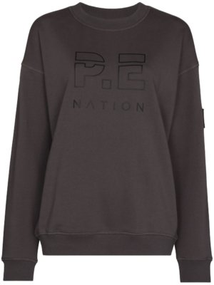 P.E Nation logo print cotton sweatshirt - Grey