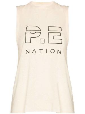P.E Nation logo print tank top - Neutrals