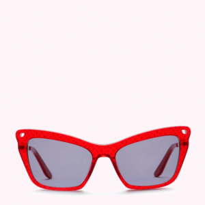Red Sketched Lips And Heart Sunglasses