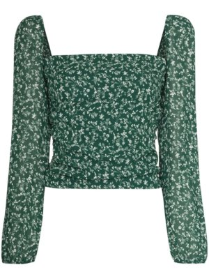 Reformation Olio floral-print top - Green
