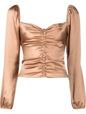 Reformation Sweetzer ruched top - Brown