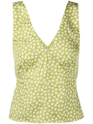 Reformation Vireo floral-print top - Green