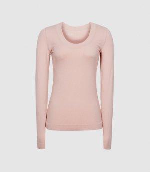 Reiss Larkin - High Stretch Seamless Top in Pink, Womens, Size XS