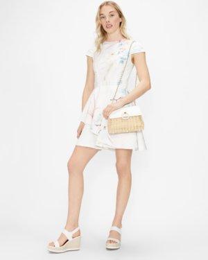 Ruffle Skirt Skater Dress
