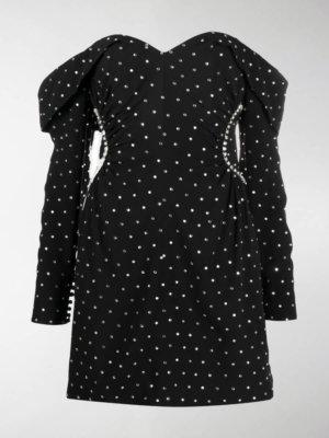 Self-Portrait crystal-embellished mini dress