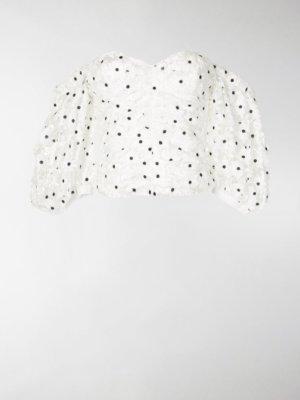 Self-Portrait off-shoulder floral blouse