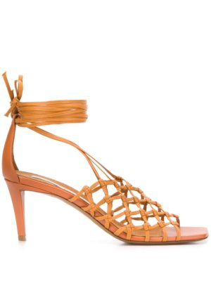 Stella McCartney 75mm woven cage sandals - Brown
