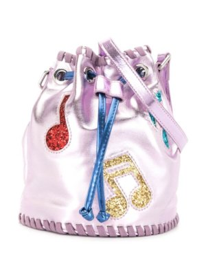 Stella McCartney Kids Music Notes bucket bag - Purple