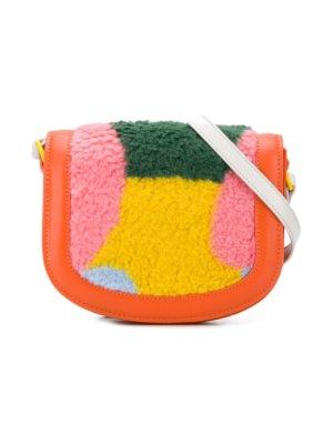 Stella McCartney Kids faux fur shoulder bag - Orange