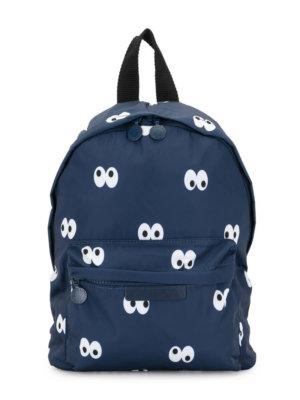 Stella McCartney Kids googly eyes print backpack - Blue