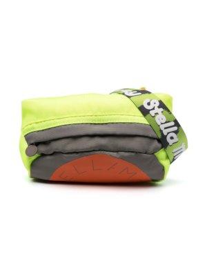 Stella McCartney Kids panelled logo shoulder bag - Green