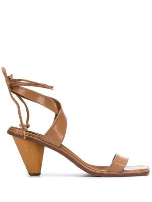 Stella McCartney Rhea crossover strap sandals - Brown