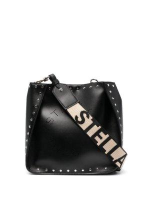 Stella McCartney Stella Logo studded shoulder bag - Black
