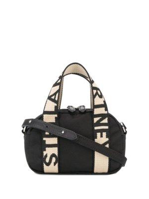 Stella McCartney embossed logo shoulder bag - Neutrals