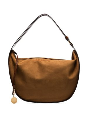 Stella McCartney logo-charm shoulder bag - Brown