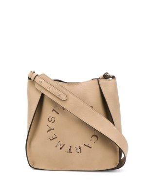 Stella McCartney logo detail shoulder bag - Neutrals