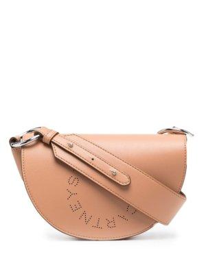 Stella McCartney mini Marlee logo shoulder bag - Brown