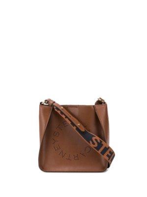 Stella McCartney mini Stella Logo shoulder bag - Brown