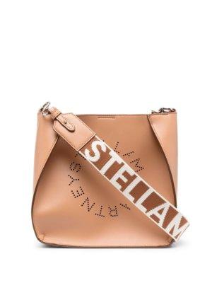 Stella McCartney perforated logo shoulder bag - Neutrals