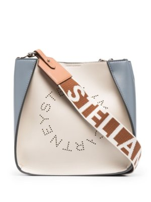 Stella McCartney small Stella Logo shoulder bag - White