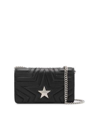 Stella McCartney star stitched shoulder bag - Black